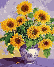Load image into Gallery viewer, Sunflower Vase Paint by Numbers