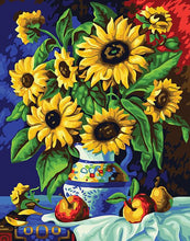 Load image into Gallery viewer, Sunflowers & Fruits Paint by Numbers