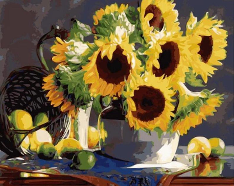 Sunflowers & Fruits Paint by Numbers