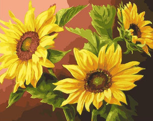 Sunflowers Paint by Numbers