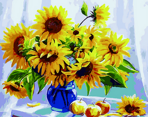 Sunflowers Painting by Numbers