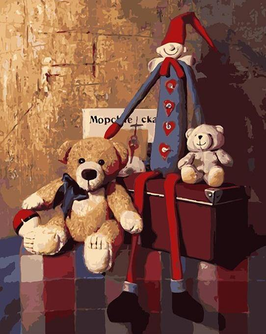 Teddy Bears & Clown Paint by Numbers