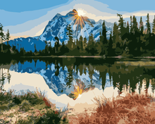 Load image into Gallery viewer, Snow Mountain Paint by Numbers
