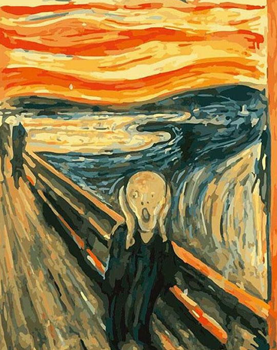 The Scream Paint by Numbers