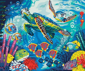Turtles & Fish Paint by Numbers
