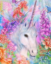 Load image into Gallery viewer, Unicorn & Flowers Painting by Numbers