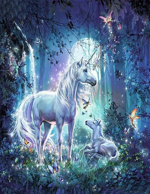 Unicorn with Baby Paint by Numbers