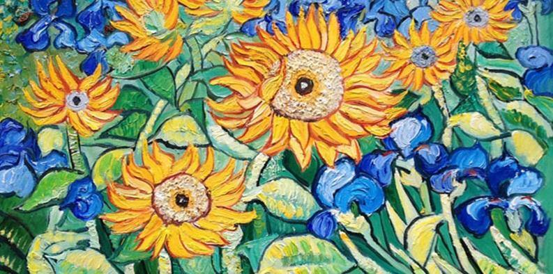 Sunflowers Large Paint by Numbers