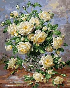 Yellow Roses Paint by Numbers
