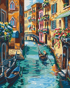 Venice Street Paint by Numbers
