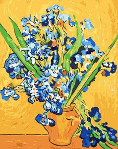 Irises by Van Gogh Paint by Numbers