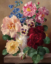 Load image into Gallery viewer, Vintage Flowers Paint by Numbers