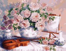 Load image into Gallery viewer, Violin & Roses Paint by Numbers