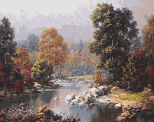 Load image into Gallery viewer, Water Stream & Forest Trees Painting Kit