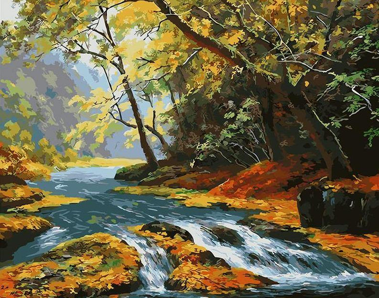 Water Stream Paint by Numbers
