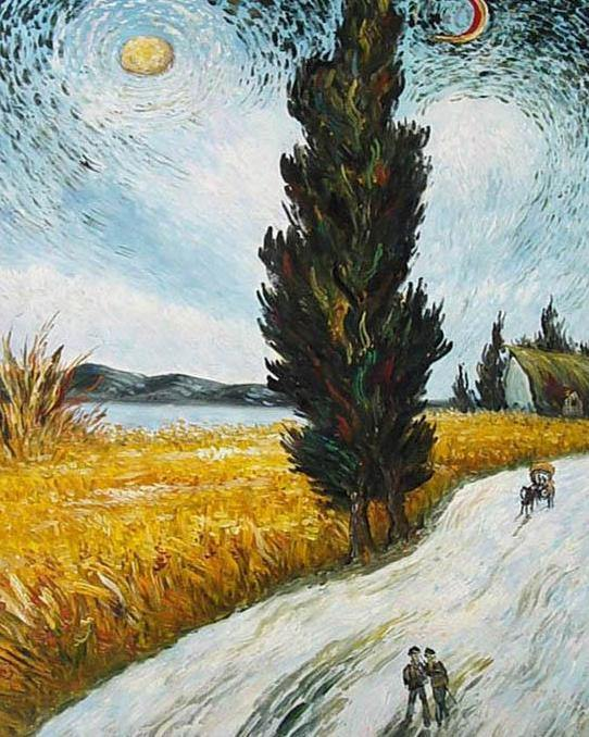Wheat Field Harvest Paint by Numbers