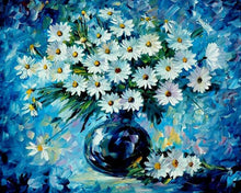 Load image into Gallery viewer, White Daisies Paint by Numbers