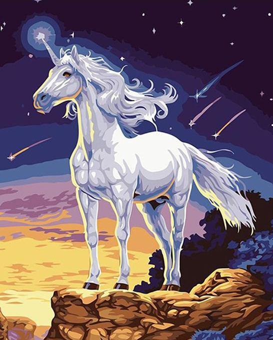 Unicorn Fantasy Painting by Numbers