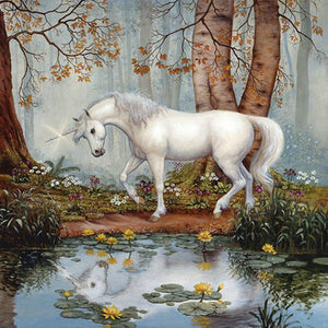 Unicorn in Forest Paint by Numbers