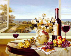 Wine & Fruits Paint by Numbers
