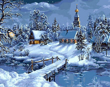 Load image into Gallery viewer, Winter & Snow Paint by Numbers