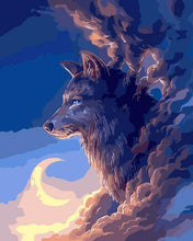 Load image into Gallery viewer, Wolf Fantasy Paint by Numbers