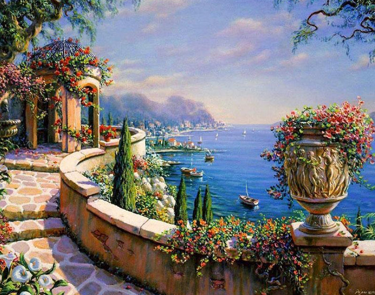 Wonderful Greece Paint by Numbers