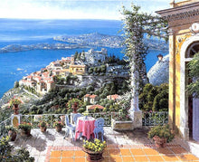 Load image into Gallery viewer, Terrace Sea View Paint by Numbers