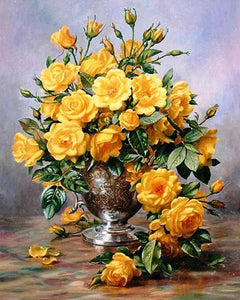 Yellow Roses Painting by Numbers