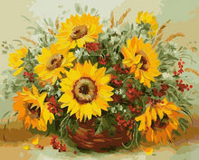 Load image into Gallery viewer,  Sunflowers Basket Paint by Numbers