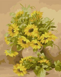 Yellow Sunflowers Paint by Numbers
