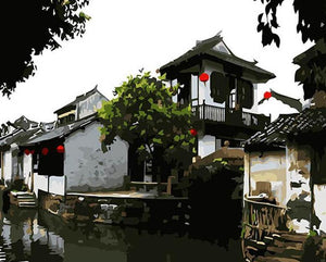 Zhouzhuang Town Paint by Numbers