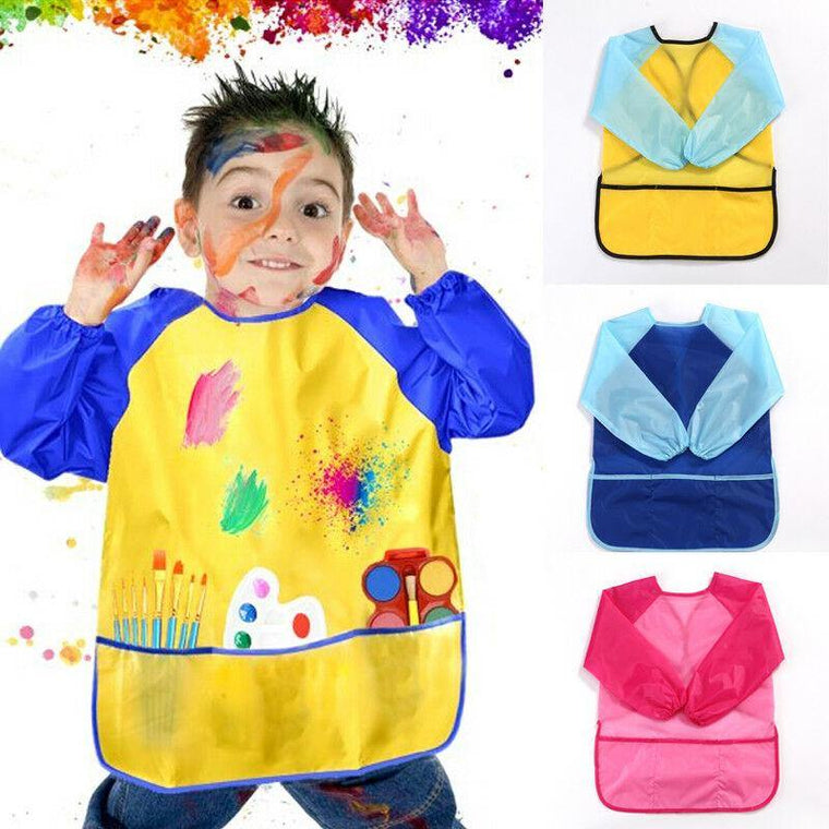 1 Piece Waterproof Kids Apron For Painting