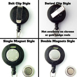 Badge Reel Clip Choices