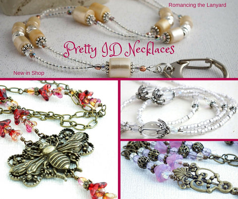 Romancing the Lanyard - Pretty ID Necklaces
