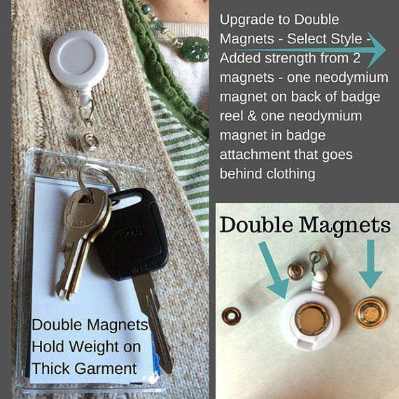 Double Magnet Badge Reels