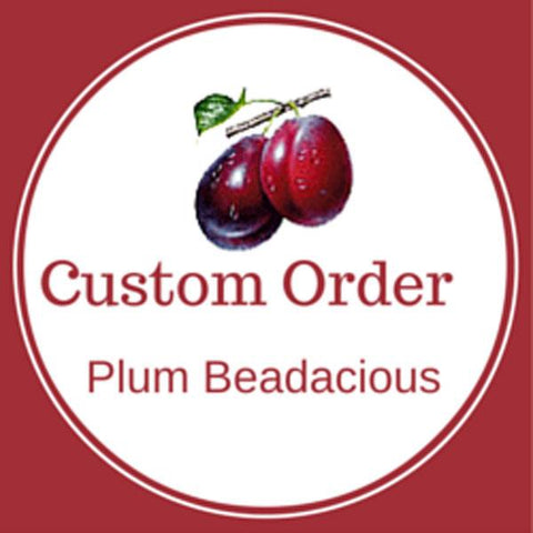 Custom Order for Jamie - White Indonesia Bead Lanyard - Plum Beadacious