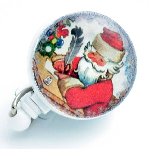 Christmas Santa Writing Letter Badge Reel Retractable ID Badge Holder 168