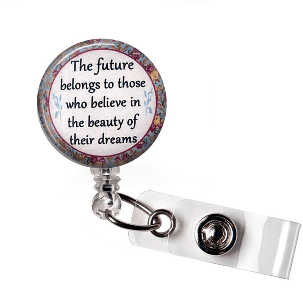 Inspirational Badge Reel - The Future ID Badge Holder