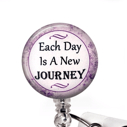 Each Day Is a New Journey - Inspirational Badge Reel