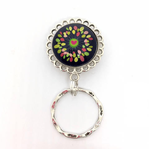 Colorful Bright Heart on Magnetic Eyeglass Holder -EH02