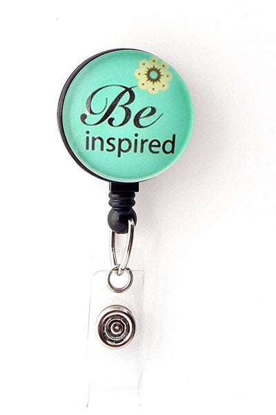 Be Inspired Retractable Badge Holder - ID Badge Reel 267 - Plum Beadacious