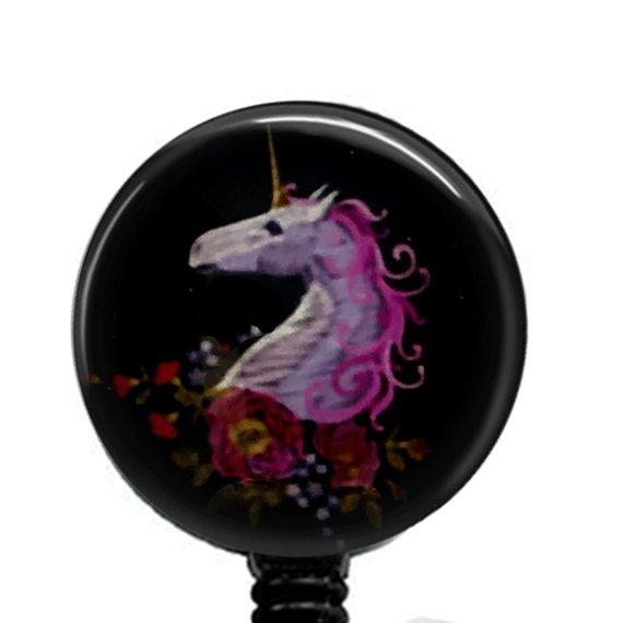 Unicorn ID Badge Reel - Name Badge Holder -  379 - Plum Beadacious