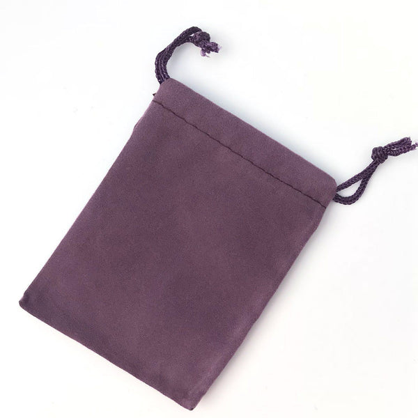 purple velour bag for purse hanger