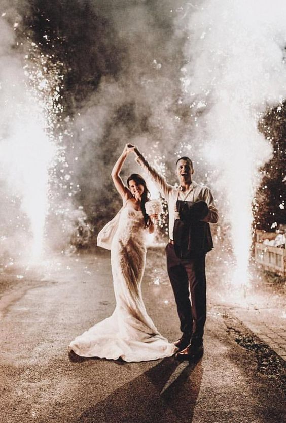 Here's how to have fireworks at your wedding, safely and legally