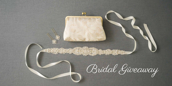 Bridal Giveaway: CLUTCH & SASH & HAIR ACCESSORY!
