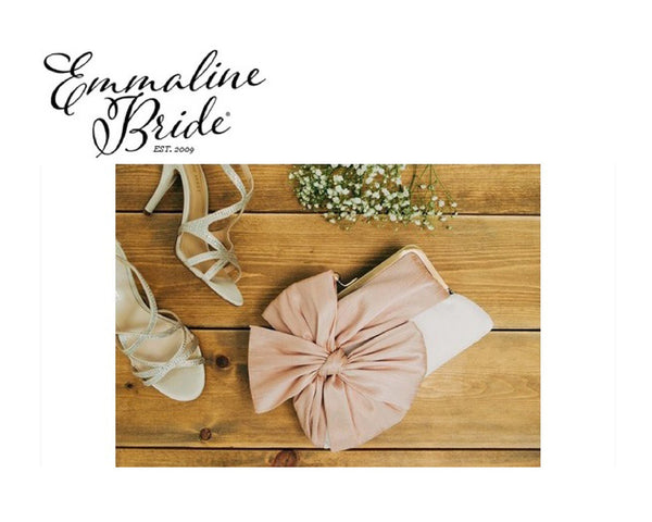 Feature: Mismatched Bridesmaid Blush Clutch Set