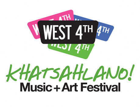 Find Us This Weekend @ the Khatsahlano Music + Arts Festival