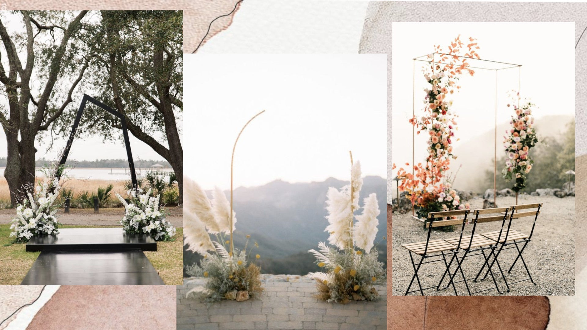 Modern arches for outdoor wedding decorations