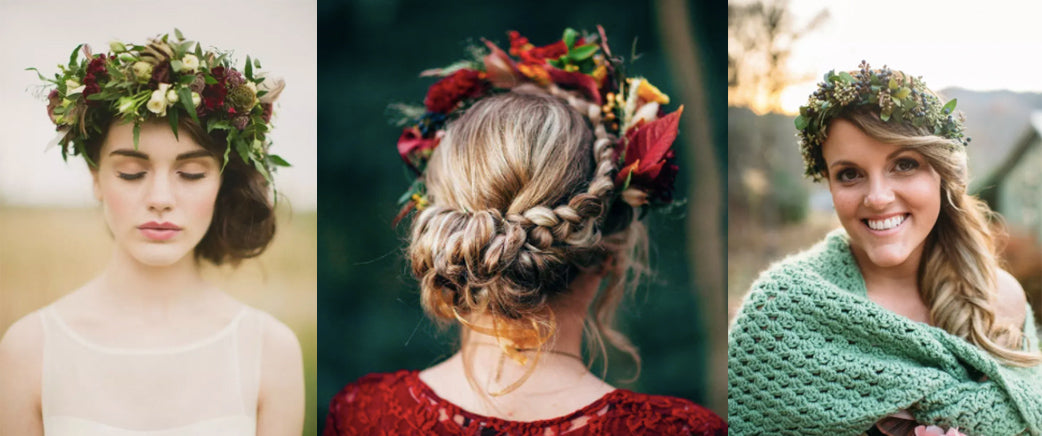 Autumnal flower crowns!